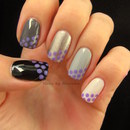 Ombre Nails With Dots