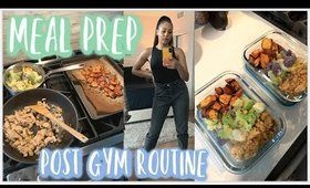 EASY MEAL PREP + POST GYM ROUTINE + LEG DAY