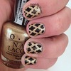 Black and Gold Stamped Nails