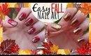 Easy Fall Nail Art Tutorial - Glitter Gradient