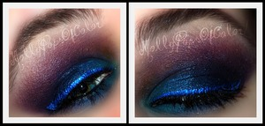 Products Used:  Sleek Dark Matte V2 Palette Sleek Acid Palette NYX Electric Blue Liquid Liner Lorac Pro Palette: Cream.