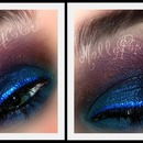 Blue/Pruple Smokey Eye
