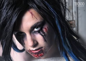 MUA was not myself ( I am the zombie! lol), but was Alice Bizarre Makeup :) Thought id share to see how folks reacted to the more creapy side of my work :p
