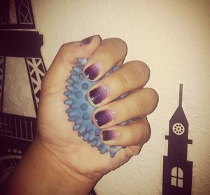 Lavender to midnight blue gradient fade design