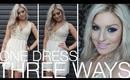 (GIVEAWAY) 3 Dressed Up Outfit Ideas (Using 1 Dress!) ♡ Collab w/ Saturdaynightsalrite!