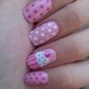 pink cupcake nails =]