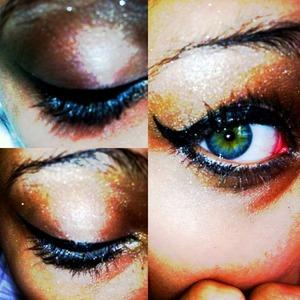 Bronzed , smokey eye effect