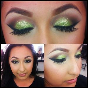 Follow me on Instagram for more photos @makeupbyriz❤.   Foundation/concealer: Mac Eyeshadows: TNT eyeshadow Pallete #1 Blush/highlight/Bronzer: TNT Blush Pallete #1 Lip liner/lipstick: Flesh and Romance by TNT