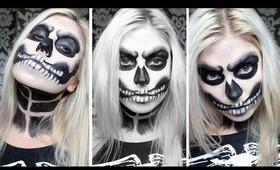 ♡ Angry Skeleton Makeup ♡ Halloween Costume ft Romwe