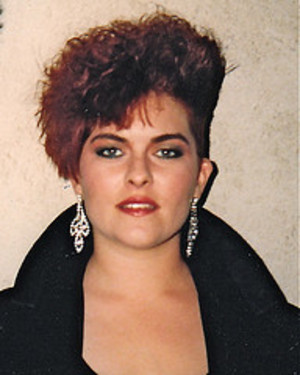 Me, ready to model in a Hair Show in 1987. That was high fashion hair :)
