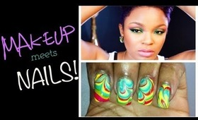 Abstract Eyes: Makeup meets Nails | DearNatural62 Collab