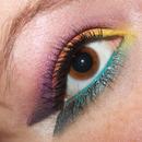 First rainbow eye look