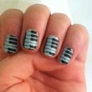 Matte Piano Nails