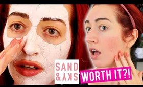 WORTH THE HYPE?! Sand And Sky Mask REVIEW! Dry, Sensitive Skin | Jess Bunty