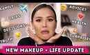 LETS TALK - GET READY WITH ME - LIFE + MAKEUP GRWM | Maryam Maquillage