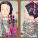 RIBBON BRAID UPDO (2 in1 style)