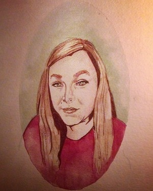 A portrait I painted of my sister as a gift to my mother for Christmas =)  Pretty happy with it actually!