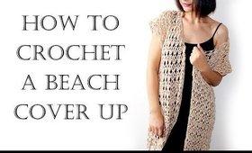 Crochet Easy Summer Vest | Beach Robe | Cover Up
