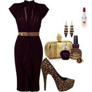Elegant beautiful plum dress.