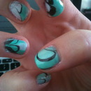 Marble water nails