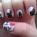 i love ny - nail art