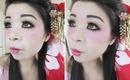 Halloween Makeup & Hair Tutorial: Modern Geisha Look
