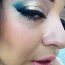 bronze n blue