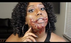 Bloody Ripped Smile | SFX Halloween Makeup