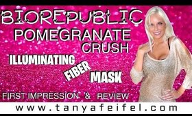 BioRepublic | Pomegranate Crush | Illuminating Fiber Mask | Review | Tanya Feifel-Rhodes
