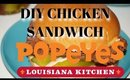cooking a popeyes chicken sandwich at home