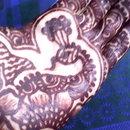 mehendi on my hand!!