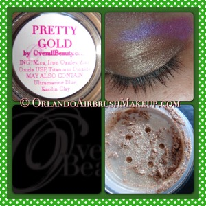 OverallBeauty.com swatches on medium tan / olive skin.  Available at OverallBeauty.com & http://www.OrlandoAirbrushMakeup.com, serving the Orlando and Miami markets.