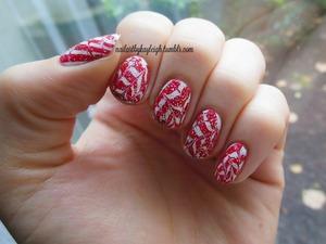 needle drag marbling, festive style!