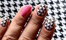 Water Decals! ✦ Houndstooth Nails + How To Use Nail Decals Water nail Art Designs (superWOWstyle)