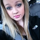 Turquoise eyes, glossy lips