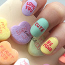 Candy Hearts Nail Art