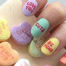 Candy Hearts Nail Art