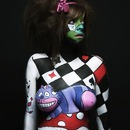 Alice in wonderland body painting