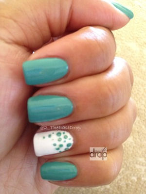 Zoya's Wednesday shade with hand drawn polka dots