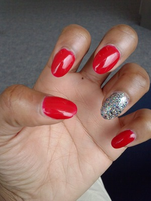 My nails are simple but cute!!
