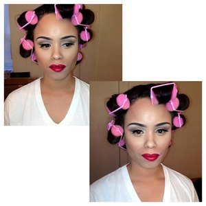 This makeup was done for her Birthday. She wanted to go for a pin-up look.  Makeup: Tamaya Magruder 4/23/13