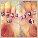 Chalkboard nails ;) 👑