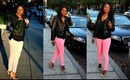 Pink & Black Outfit of the Day