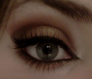 Also used the bronze colour from the smokey eye kit from Active cosmetics.