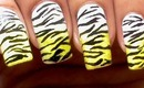 Tiger Nails Zebra Nail Art Designs Ombre Gradient How To With Nails Design Nail Art About