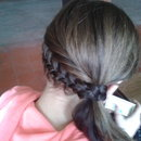 French braid & side ponytail
