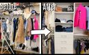 SMALL CLOSET MAKEOVER | Clean with me