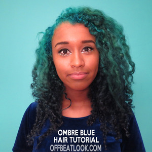 http://offbeatlook.com/teal-to-blue-ombre-hair-tutorial Here's a very detailed tutorial I made about how I bleached and dyed my hair to make this teal to dark blue ombre effect. It was quite a process, but I documented everything and made it into a cheeky little video for anyone who's interested!