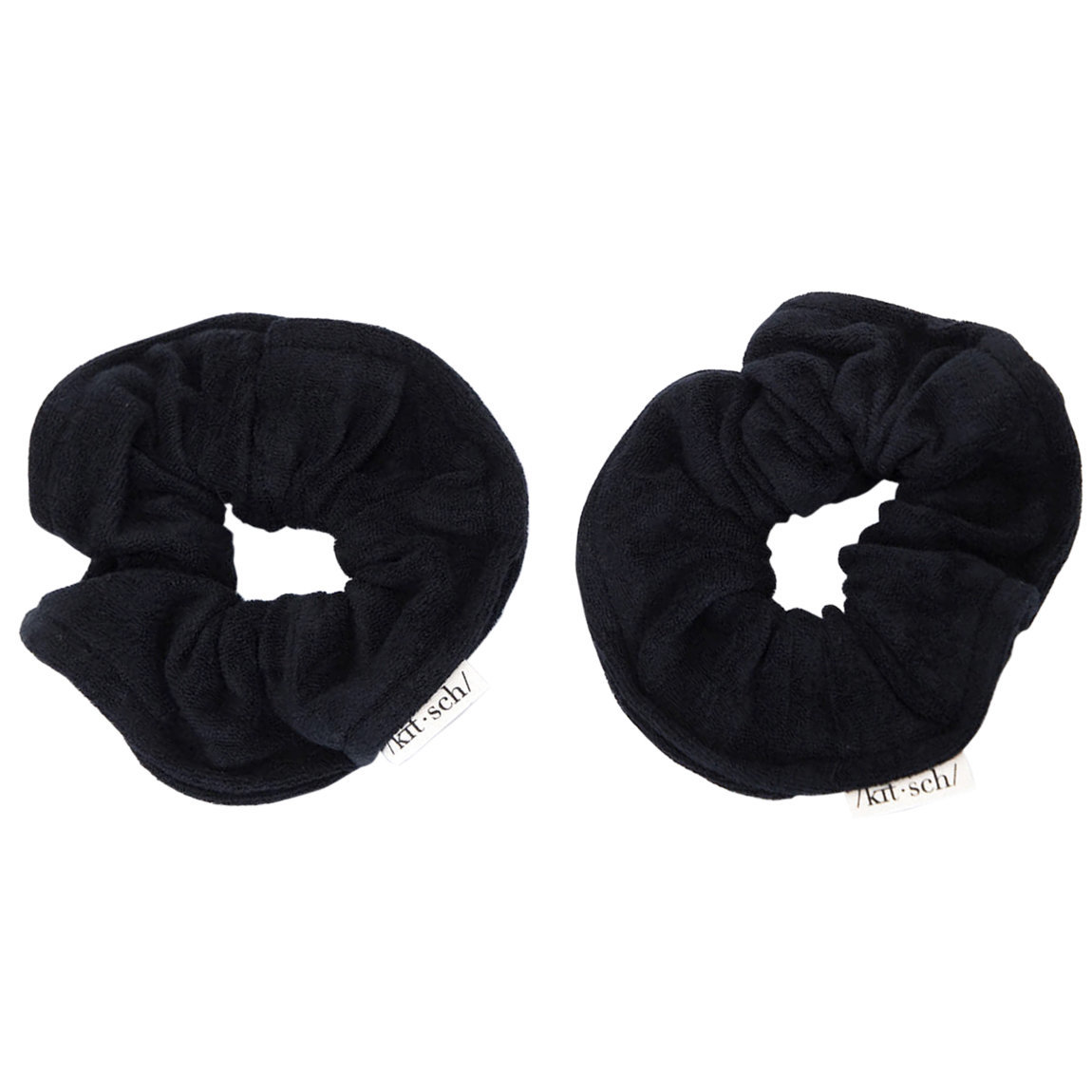 Kitsch Eco-Friendly Towel Scrunchies Black alternative view 1 - product swatch.