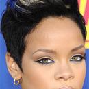 Rihanna rocks nude liner on her lids!